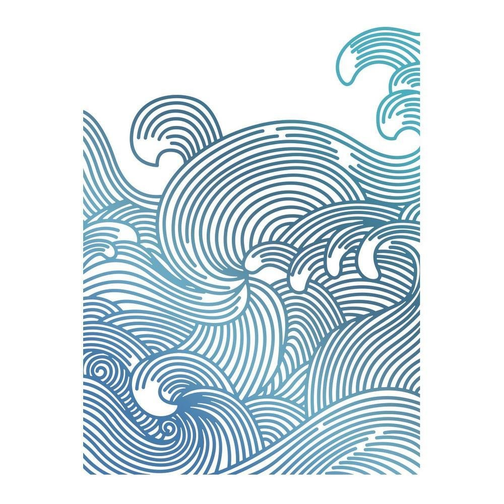 Couture Creations Seaside and Me - Swirling Seas Hotfoil Stamp GoPress and Foil