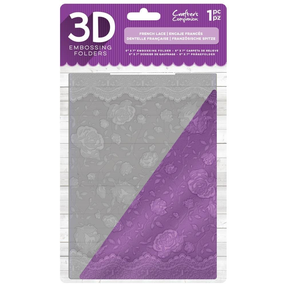 Crafter's Companion - French Lace 3D Embossing Folder