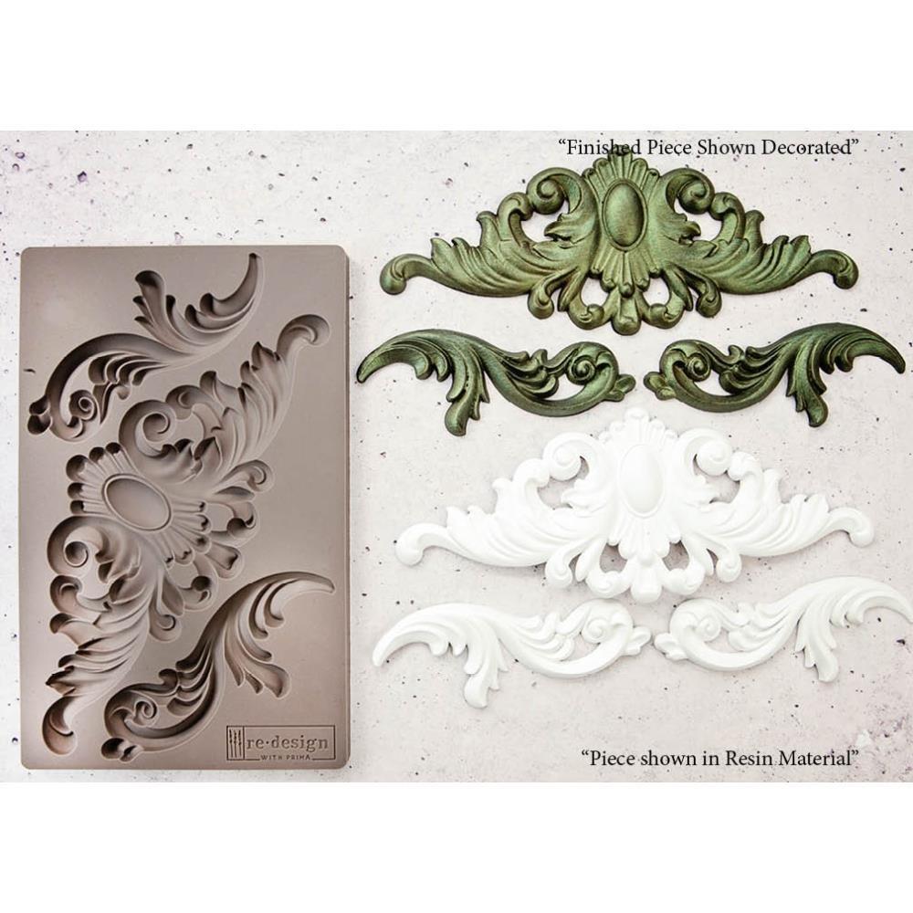 """Prima Marketing Decor Mould - Thornton Medallion - Re-design 5""""×8"""""""
