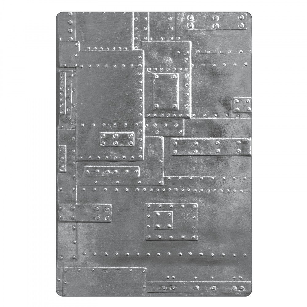 Sizzix Tim Holtz 3D Texture Fades Embossing Folder - Foundry
