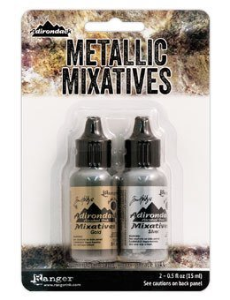 Tim Holtz® Alcohol Ink - Gold & Silver Metallic Mixatives