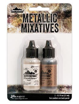 Tim Holtz® Alcohol Ink - Pearl & Copper Metallic Mixatives