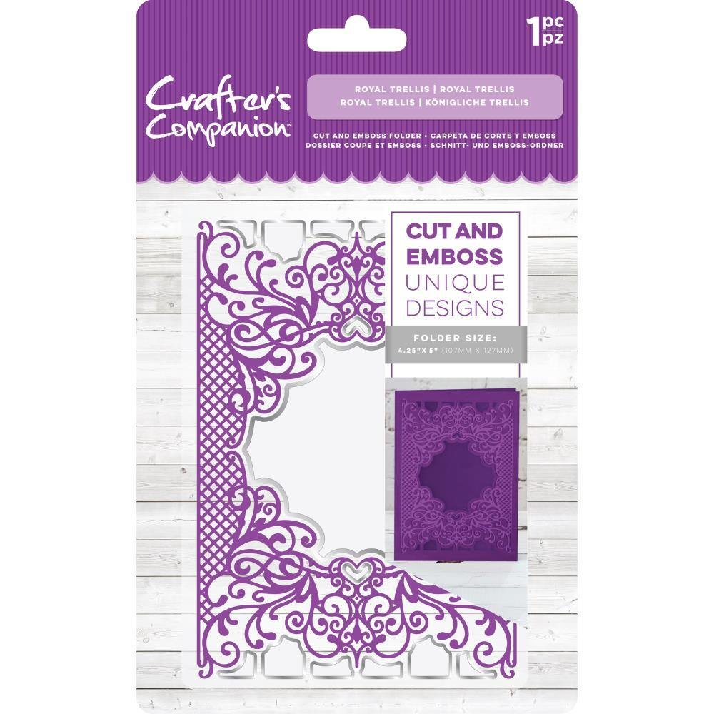 "Crafter's Companion 5""x7"" Cut and Emboss Folder - Royal Trellis"