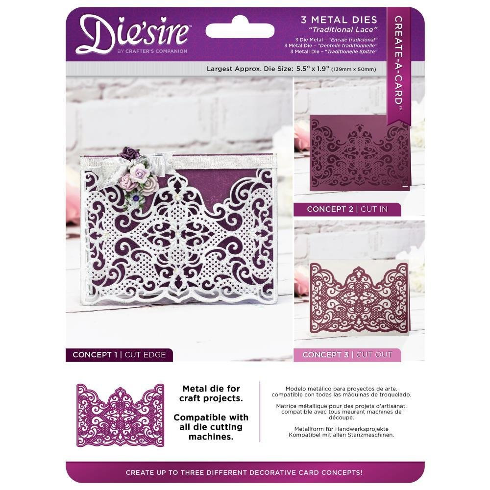 Die'sire Create-A-Card - Traditional Lace