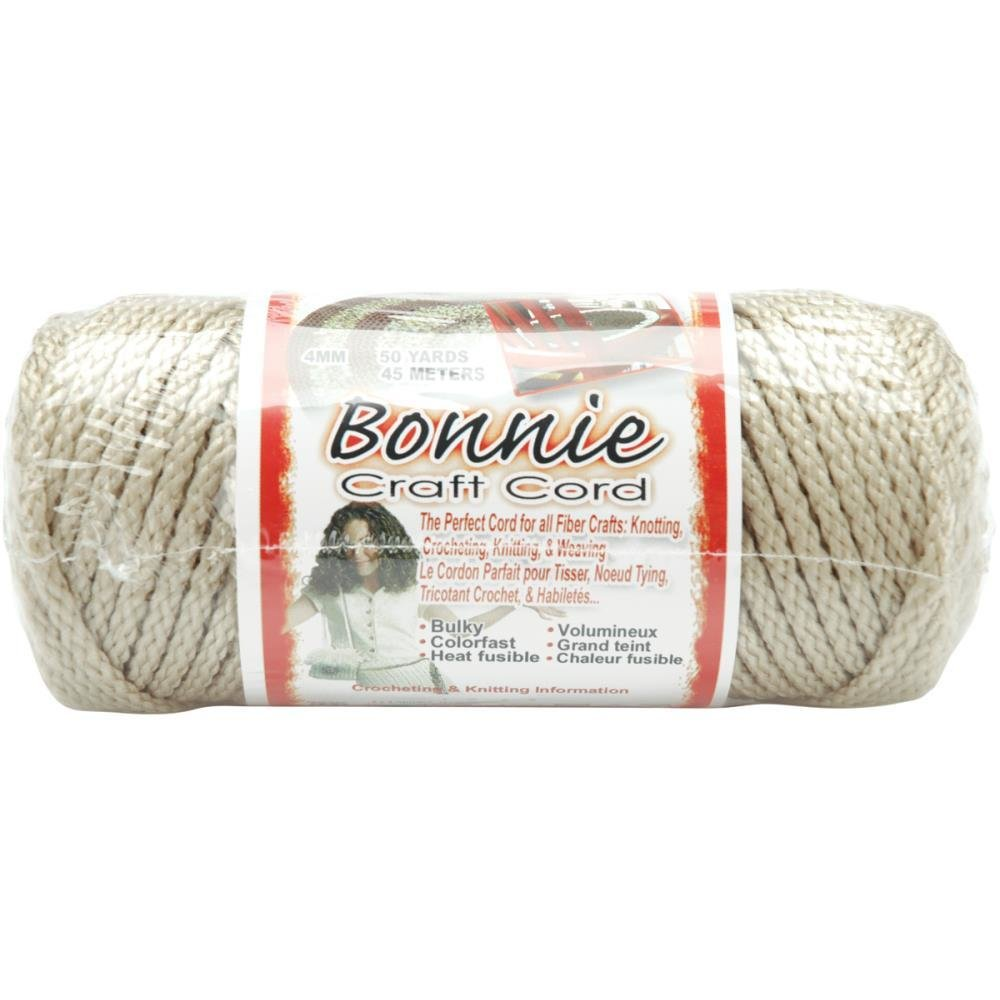 Bonnie Macrame Craft Cord 4mm - Pearl (Beige)