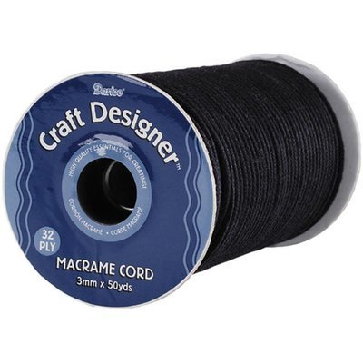 Darice Macrame Cord 3mm - Black