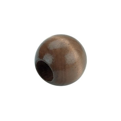 Round Wood Beads 20mm - Walnut (Pack of 8)