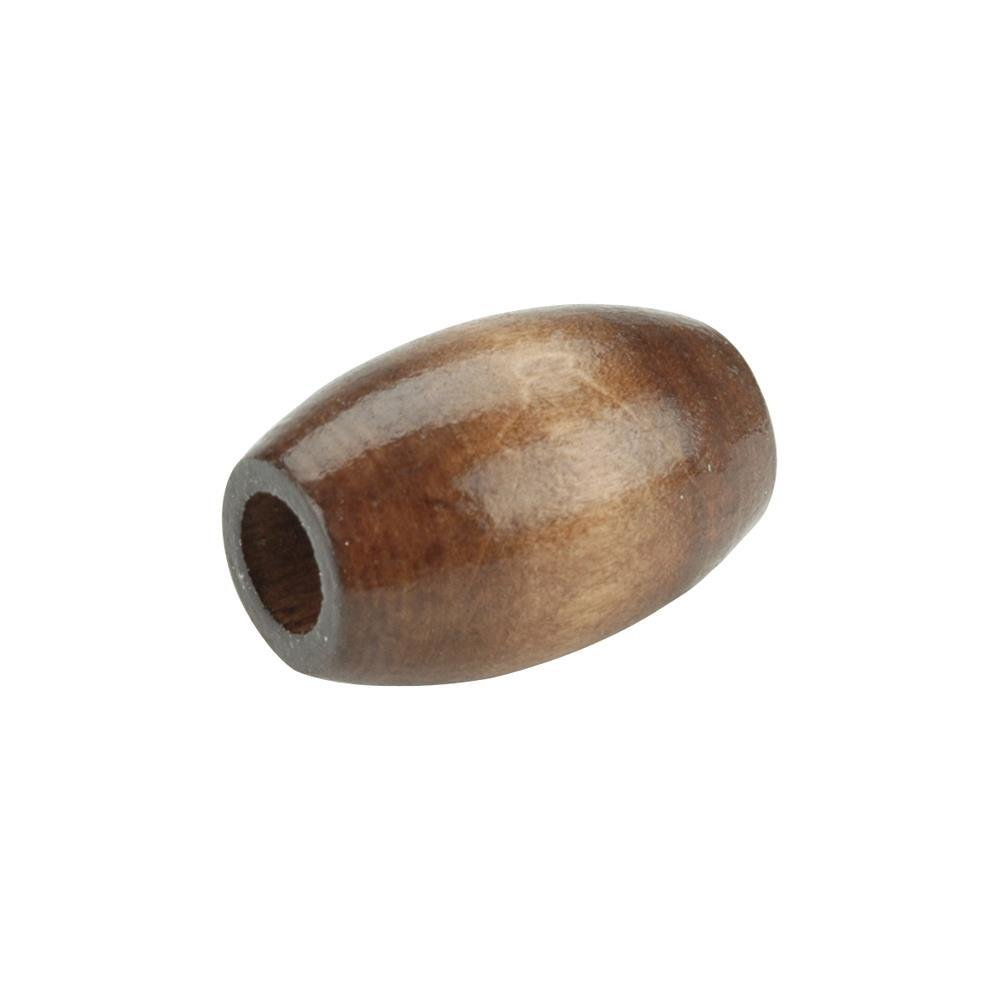 Oval Wood Beads 32mm x 22mm - Walnut (Pack of 6)