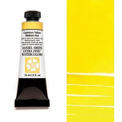 Cadmium Yellow Medium Hue 15ml Tube – DANIEL SMITH Extra Fine Watercolour