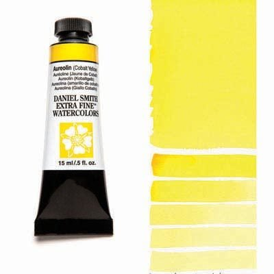 Aureolin – Cobalt Yellow 15ml Tube – DANIEL SMITH Extra Fine Watercolour