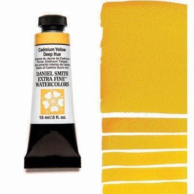 Cadmium Yellow Deep Hue 15ml Tube – DANIEL SMITH Extra Fine Watercolour