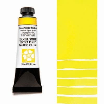 Hansa Yellow Medium 15ml Tube – DANIEL SMITH Extra Fine Watercolour