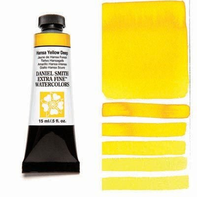 Hansa Yellow Deep 15ml Tube – DANIEL SMITH Extra Fine Watercolour