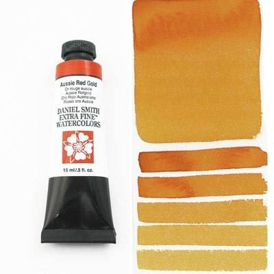 Aussie Red Gold 15ml Tube – DANIEL SMITH Extra Fine Watercolour