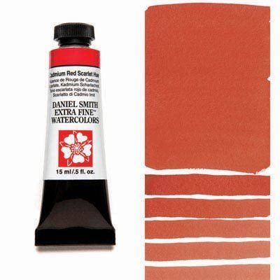 Cadmium Red Scarlet Hue 15ml Tube – DANIEL SMITH Extra Fine Watercolour