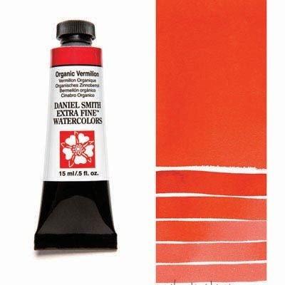 Organic Vermilion 15ml Tube – DANIEL SMITH Extra Fine Watercolour