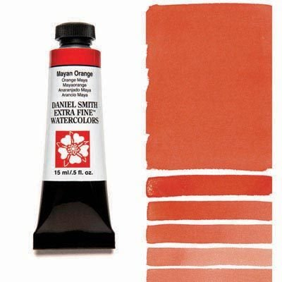 Mayan Orange 15ml Tube – DANIEL SMITH Extra Fine Watercolour