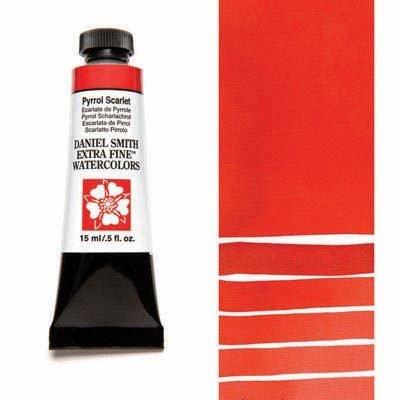 Pyrrol Scarlet 15ml Tube – DANIEL SMITH Extra Fine Watercolour