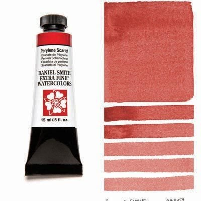 Perylene Scarlet 15ml Tube – DANIEL SMITH Extra Fine Watercolour