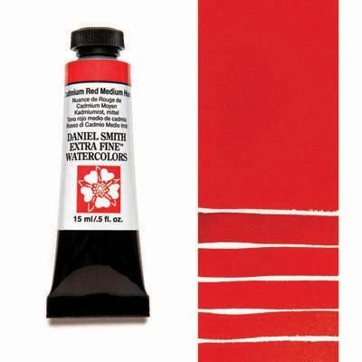 Cadmium Red Medium Hue 15ml Tube – DANIEL SMITH Extra Fine Watercolour
