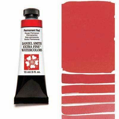 Permanent Red 15ml Tube – DANIEL SMITH Extra Fine Watercolour