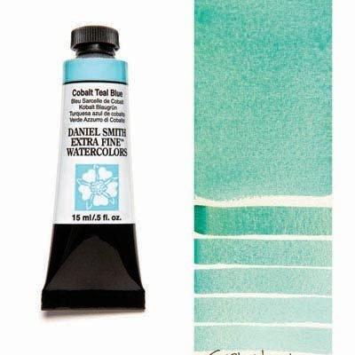 Cobalt Teal Blue 15ml Tube – DANIEL SMITH Extra Fine Watercolour
