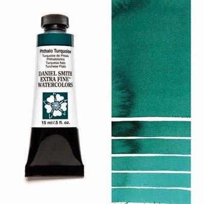 Phthalo Turquoise 15ml Tube – DANIEL SMITH Extra Fine Watercolour