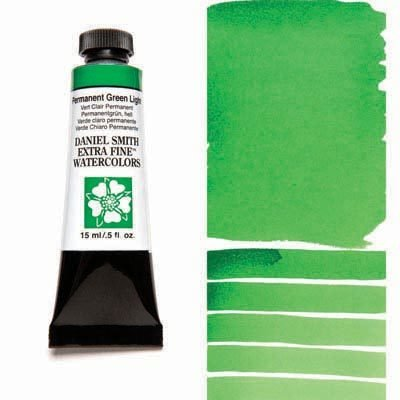 Permanent Green Light 15ml Tube – DANIEL SMITH Extra Fine Watercolour
