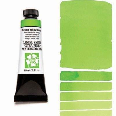 Phthalo Yellow Green 15ml Tube – DANIEL SMITH Extra Fine Watercolour