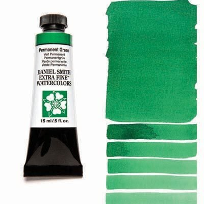 Permanent Green 15ml Tube – DANIEL SMITH Extra Fine Watercolour