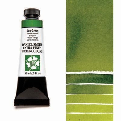 Sap Green 15ml Tube – DANIEL SMITH Extra Fine Watercolour