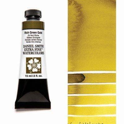 Rich Green Gold 15ml Tube – DANIEL SMITH Extra Fine Watercolour