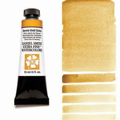 Verona Gold Ochre 15ml Tube – DANIEL SMITH Extra Fine Watercolour