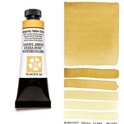 Burgundy Yellow Ochre 15ml Tube – DANIEL SMITH Extra Fine Watercolour