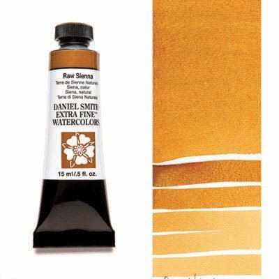 Raw Sienna 15ml Tube – DANIEL SMITH Extra Fine Watercolour