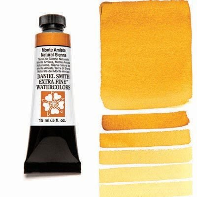 Monte Amiata Natural Sienna 15ml Tube – DANIEL SMITH Extra Fine Watercolour