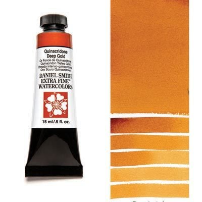 Quinacridone Deep Gold 15ml Tube – DANIEL SMITH Extra Fine Watercolour