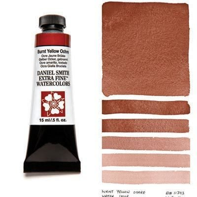 Burnt Yellow Ochre 15ml Tube – DANIEL SMITH Extra Fine Watercolour