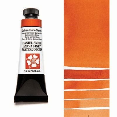 Quinacridone Sienna 15ml Tube – DANIEL SMITH Extra Fine Watercolour