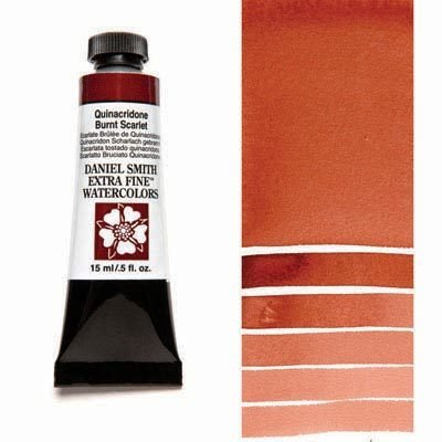 Quinacridone Burnt Scarlet 15ml Tube – DANIEL SMITH Extra Fine Watercolour