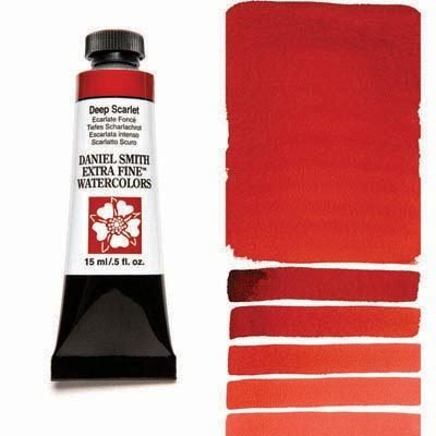 Deep Scarlet 15ml Tube – DANIEL SMITH Extra Fine Watercolour