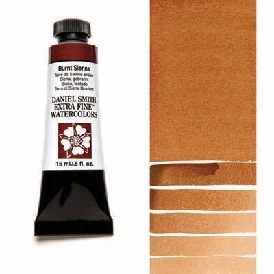 Burnt Sienna 15ml Tube – DANIEL SMITH Extra Fine Watercolour