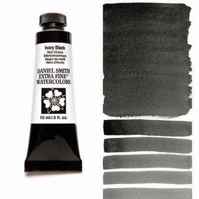Ivory Black 15ml Tube – DANIEL SMITH Extra Fine Watercolour