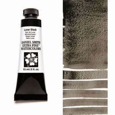 Lunar Black 15ml Tube – DANIEL SMITH Extra Fine Watercolour