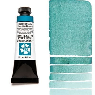 Sleeping Beauty Turquoise Genuine 15ml Tube – DANIEL SMITH Extra Fine Watercolour