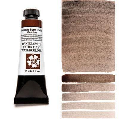 Hematite Burnt Scarlet Genuine 15ml Tube – DANIEL SMITH Extra Fine Watercolour