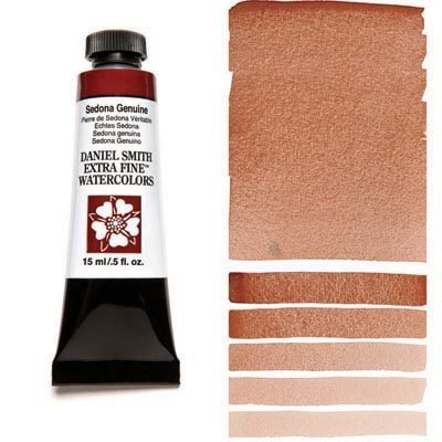 Sedona Genuine (Natural Iron Oxide) 15ml Tube – DANIEL SMITH Extra Fine Watercolour