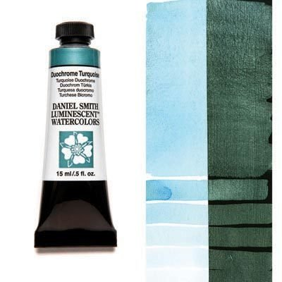 Duochrome Turquoise 15ml Tube – DANIEL SMITH Luminescent Watercolour