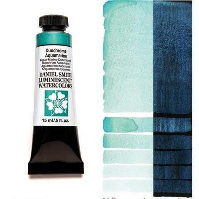 Duochrome Aquamarine 15ml Tube – DANIEL SMITH Luminescent Watercolour
