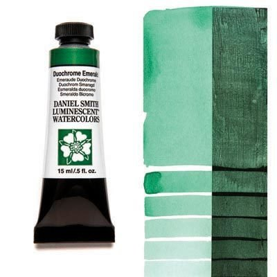 Duochrome Emerald 15ml Tube – DANIEL SMITH Luminescent Watercolour